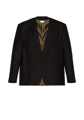 Fear of God Exclusively for Ermenegildo Zegna Single Breasted Jacket in Black - Black. Size 48 (also in ).