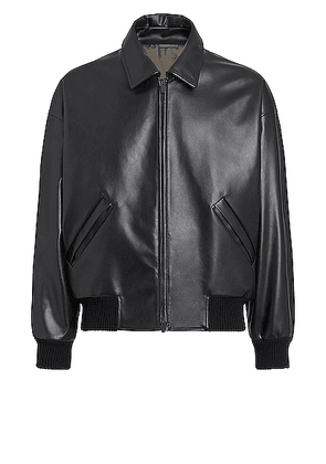Fear of God Exclusively for Ermenegildo Zegna Double Collar Bomber in Black - Black. Size 48 (also in ).