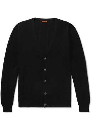 Barena - Open-Knit Virgin Wool Cardigan - Men - Black