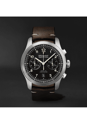 Bremont - ALT1-C Griffon Automatic Chronograph 43mm Stainless Steel and Leather Watch - Men - Black