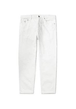 Brunello Cucinelli - Stretch-Denim Jeans - Men - White