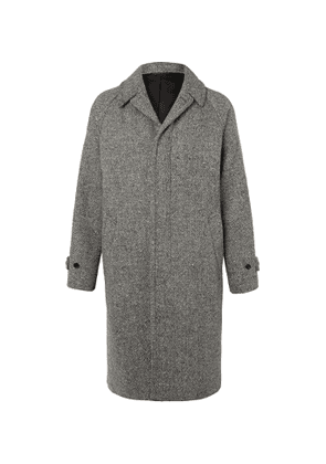 Camoshita - Melangé Wool-Blend Coat - Men - Black