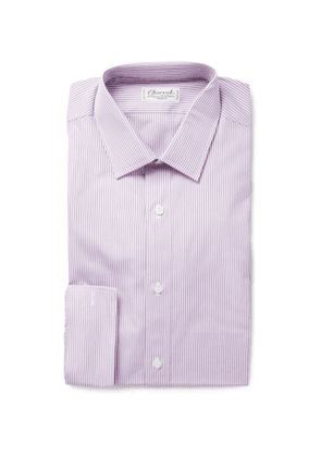 Charvet - Slim Fit Striped Cotton Shirt - Men - Purple