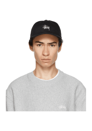 Stussy Black Stock Low Pro Hat
