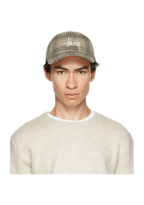 Stussy Off-White Plaid Big Logo Low Pro Cap