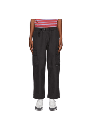 Stussy Black Solid Taped Seam Cargo Pants