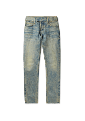 Fear of God for Ermenegildo Zegna - Slim-Fit Distressed Denim Jeans - Men - Blue