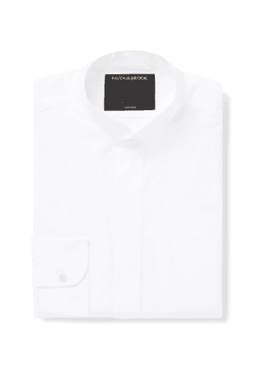 Favourbrook - Nehru-Collar Cotton-Poplin Shirt - Men - White