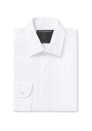 Favourbrook - Slim-Fit Bib-Front Cotton Tuxedo Shirt - Men - White