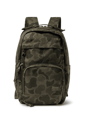 Filson - Dryden Leather-Trimmed Camouflage-Print CORDURA Backpack - Men - Green