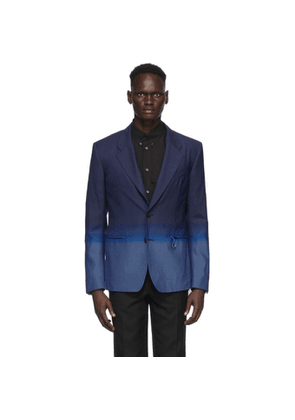 Givenchy Blue Single-Breasted Gradient Blazer