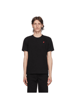 Comme des Garcons Play Black Small Heart Patch T-Shirt