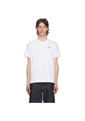Comme des Garcons Play White Small Heart Patch T-Shirt