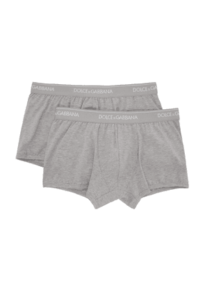 Dolce and Gabbana Two-Pack Grey Regular Boxer Briefs