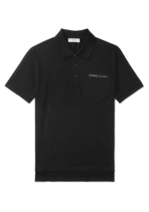 Givenchy - Logo-Detailed Cotton-Piqué Polo Shirt - Men - Black