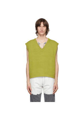 Enfants Riches Deprimes Green Boxy Sweater Vest