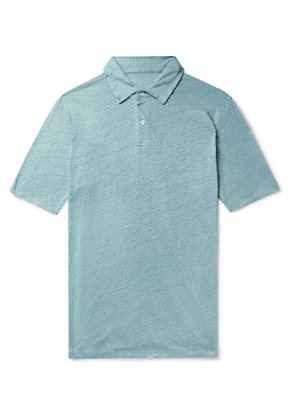 Hartford - Slub Linen Polo Shirt - Men - Blue