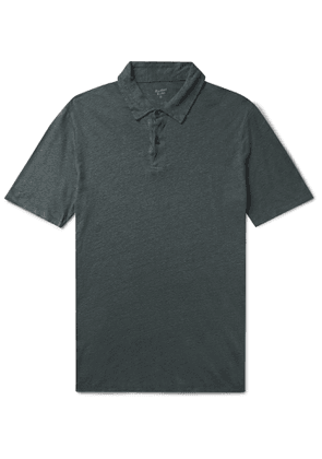 Hartford - Slub Linen Polo Shirt - Men - Green