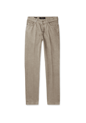 Kiton - Slim-Fit Denim Jeans - Men - Neutrals