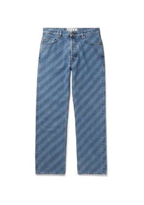 Marni - Striped Denim Jeans - Men - Blue
