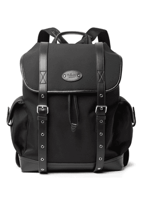 Mulberry - Leather-Trimmed ECONYL Nylon-Twill Backpack - Men - Black
