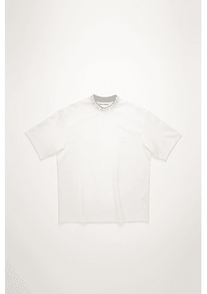 Acne Studios FN-MN-TSHI000119 Optic White Logo neck t-shirt