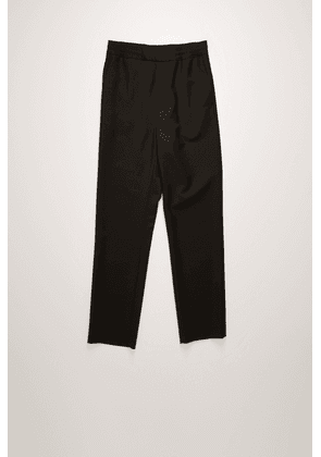 Acne Studios FN-MN-TROU000226 Black Cropped wool-blend trousers