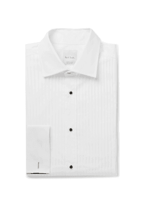 Paul Smith - Slim-Fit Bib-Front Double-Cuff Cotton-Poplin Tuxedo Shirt - Men - White