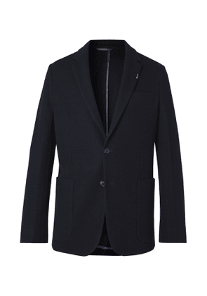 Paul Smith - Slim-Fit Unstructured Striped Embroidered Wool-Hopsack Blazer - Men - Blue