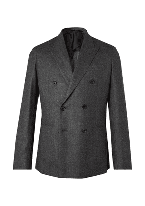 Paul Smith - Double-Breasted Birdseye Mélange Wool Blazer - Men - Gray