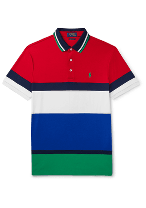 Polo Ralph Lauren - Slim-Fit Colour-Block Cotton-Jersey Polo Shirt - Men - Multi
