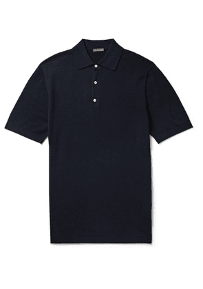 Sid Mashburn - Cotton Polo Shirt - Men - Blue