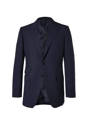 TOM FORD - O'Connor Slim-Fit Super 120s Wool Suit Jacket - Men - Blue