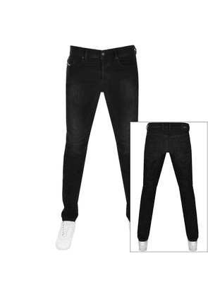 Diesel Sleenker Skinny Fit Jeans Black