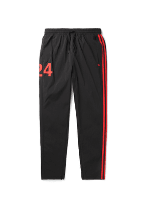adidas Consortium - 424 Tapered Logo-Embroidered Striped Nylon-Blend Track Pants - Men - Black