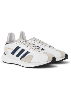 adidas Consortium - Human Made Tokio Solar Leather-Trimmed Mesh and Suede Sneakers - Men - White