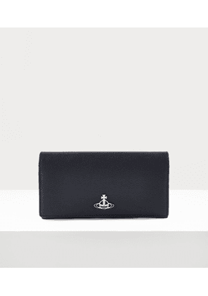Windsor Long Wallet With Long Chain Black