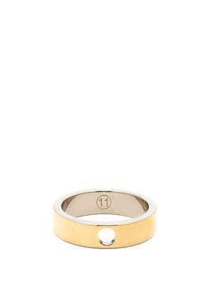 Maison Margiela - Perforated Gold-plated & Sterling-silver Ring - Mens - Yellow Gold