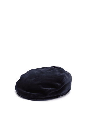 Dolce & Gabbana - Cotton-velvet Flat Cap - Mens - Blue