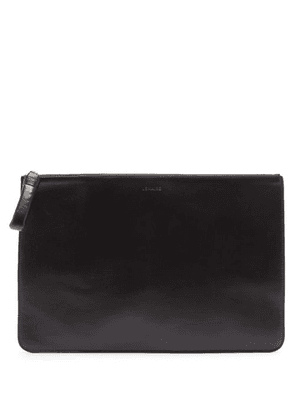 Lemaire - Logo-debossed Leather Pouch - Mens - Black