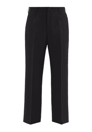 Our Legacy - Logo-embroidered Wool-canvas Trousers - Mens - Black