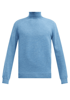 A.P.C. - Dundee Roll-neck Wool Sweater - Mens - Blue