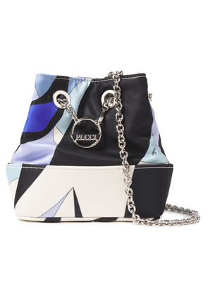 Emilio Pucci Printed Twill Bucket Bag Woman White Size --
