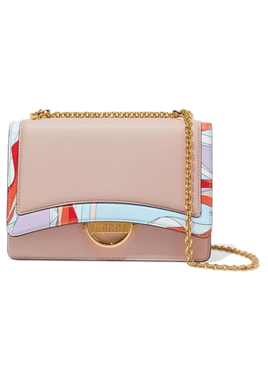 Emilio Pucci Olivia Printed Leather Shoulder Bag Woman Blush Size --