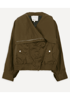 Exaggerated Collar Twill Jacket