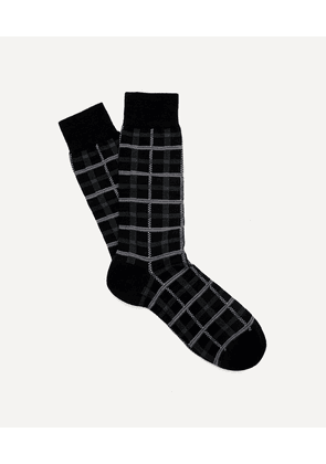 Chalsey Check Merino Wool-Blend Socks