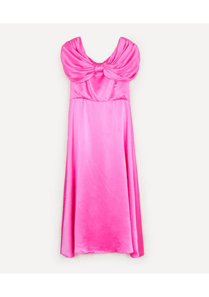 Oscar Silk Satin Midi-Dress