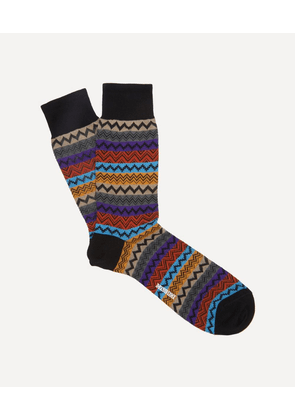 Striped Zig-Zag Socks