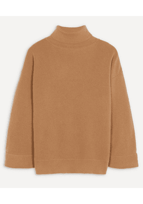 Oversized Wool-Blend Roll-Neck Jumper