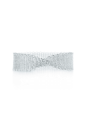 Elsa Peretti® Mesh narrow bracelet in sterling silver, extra small